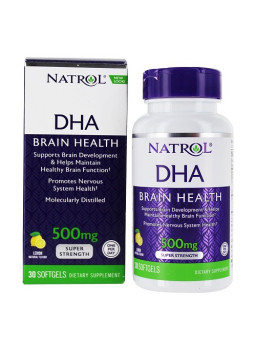 Natrol DHA 500mg SupeDHA 500mg Super Strength